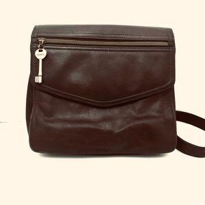 FOSSIL Leather Crossbody Messenger Bag 75082